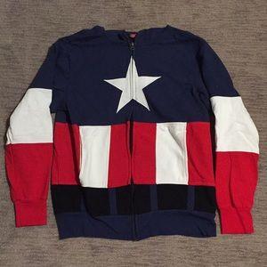 Men's captain America zip up hoodie
